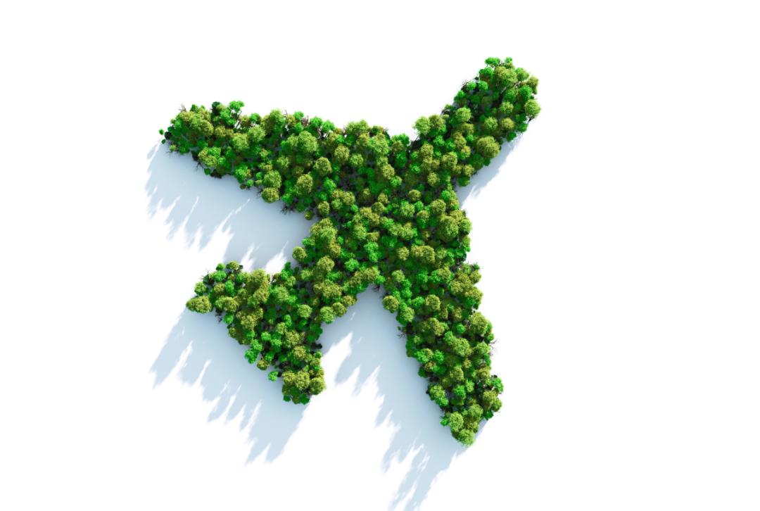 Nachhaltiges Reisen Flugzeug