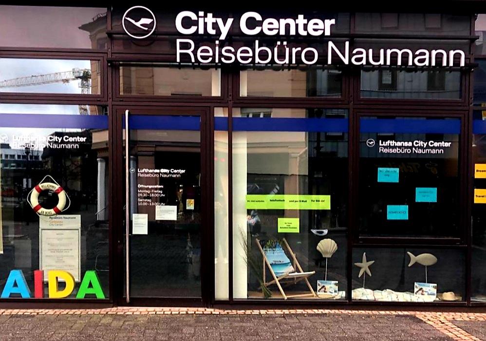 Lufthansa City Center Reisebüro Naumann Außenansicht