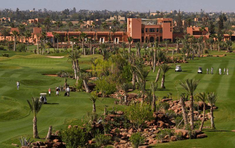 Golfplatz Marrakesch Marokko