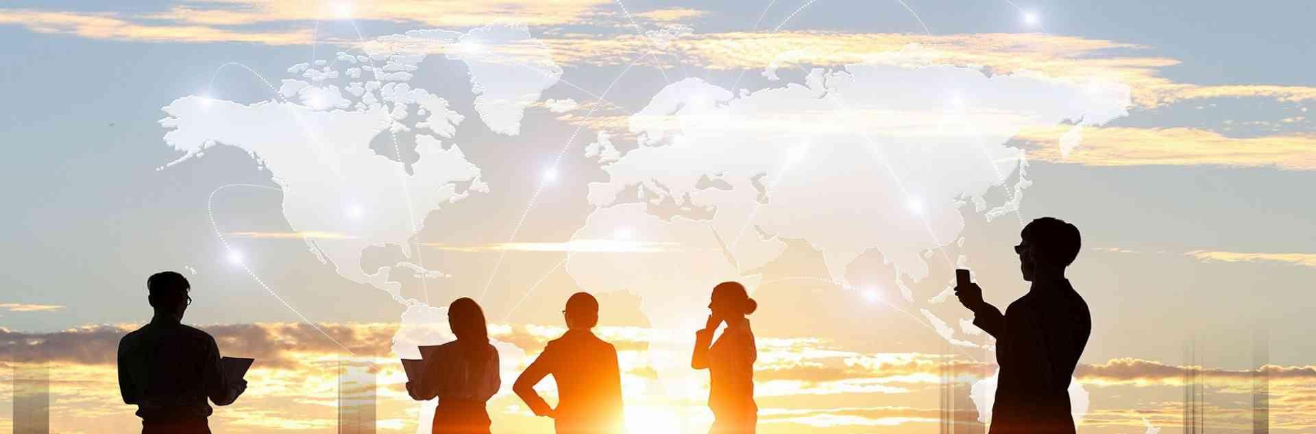 Team Westtours Reisen mit Weltkarte