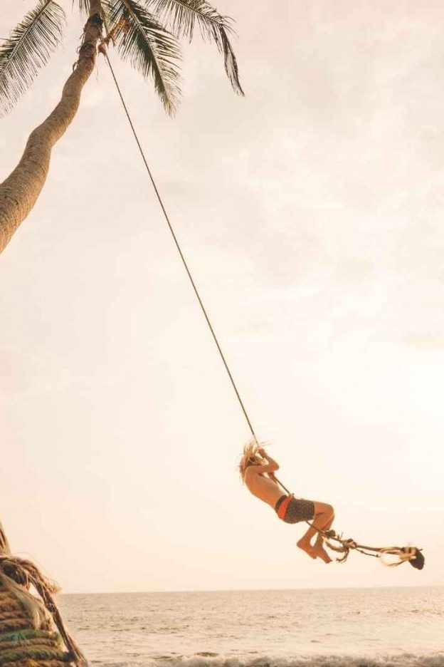 Sri Lanka sunset beach swing