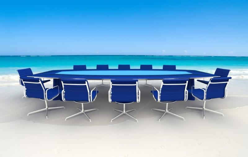 Konferenztisch am Strand