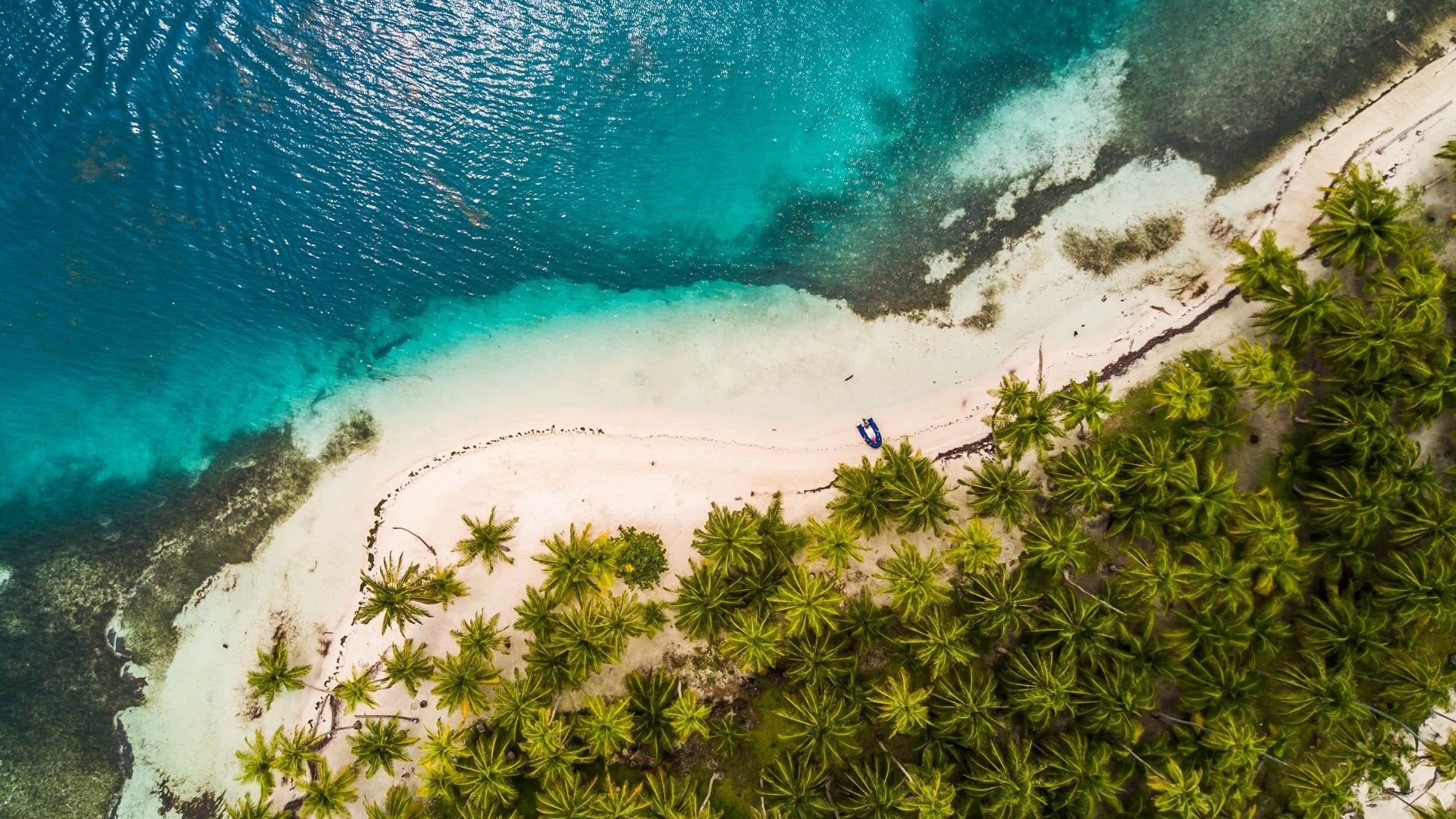 Strand & Palmen Ansicht von oben