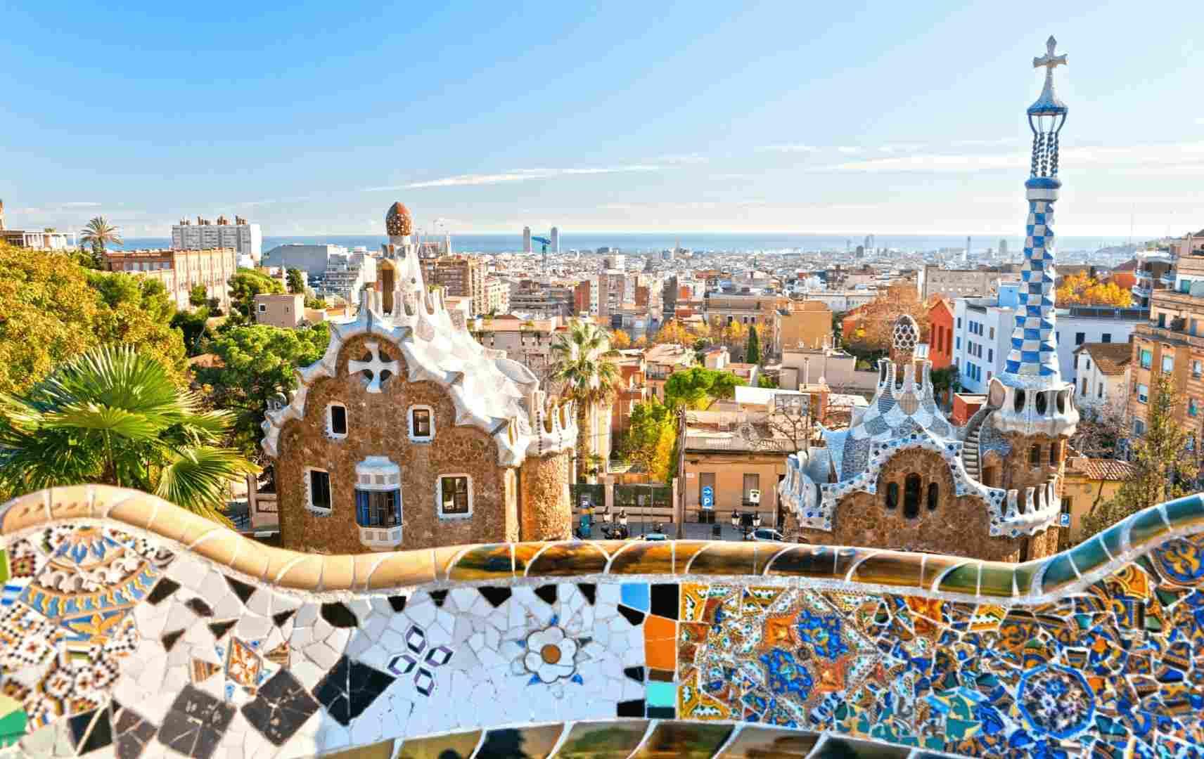 Bunte Häuser Mosaik