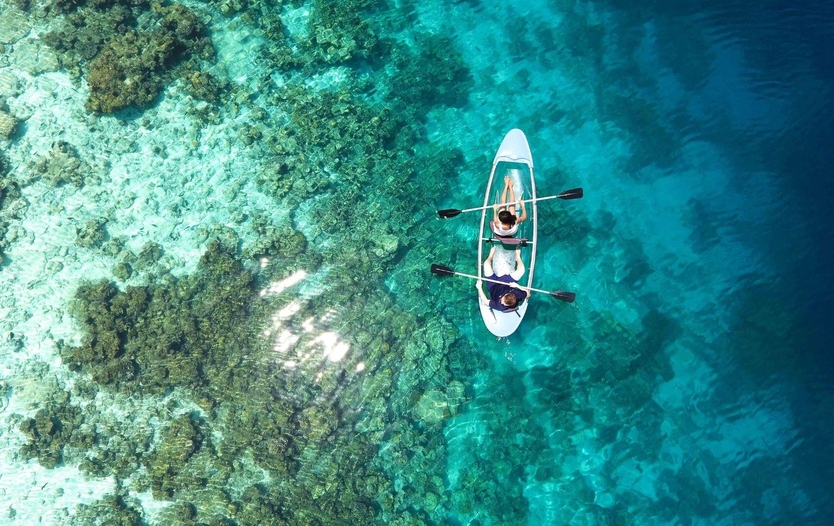 Kanu fahren Malediven