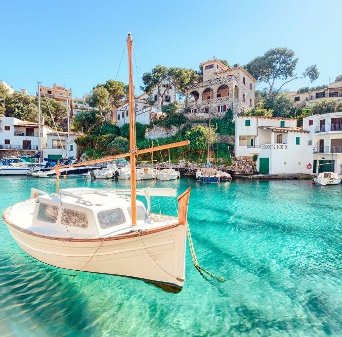 Spanien - Mallorca Boot im Wasser