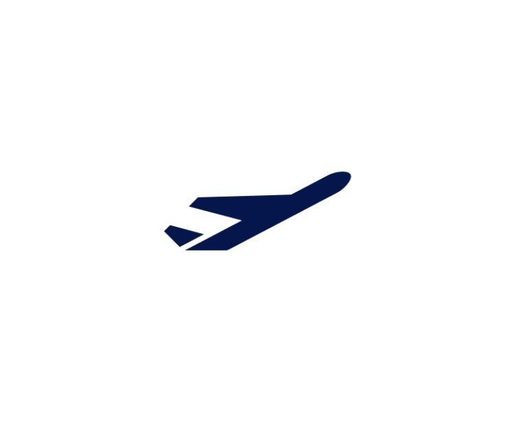 Icon startendes Flugzeug