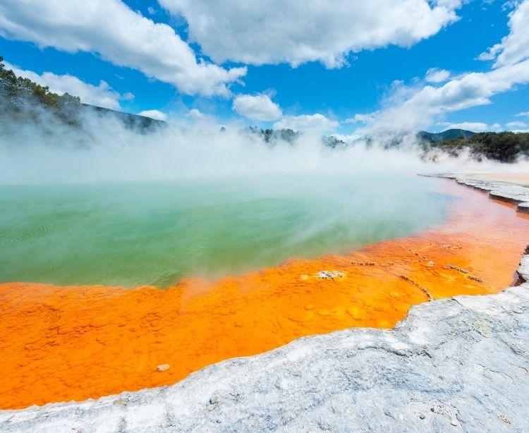 Fernreise Australien - Neuseeland Rotorua Thermalbad