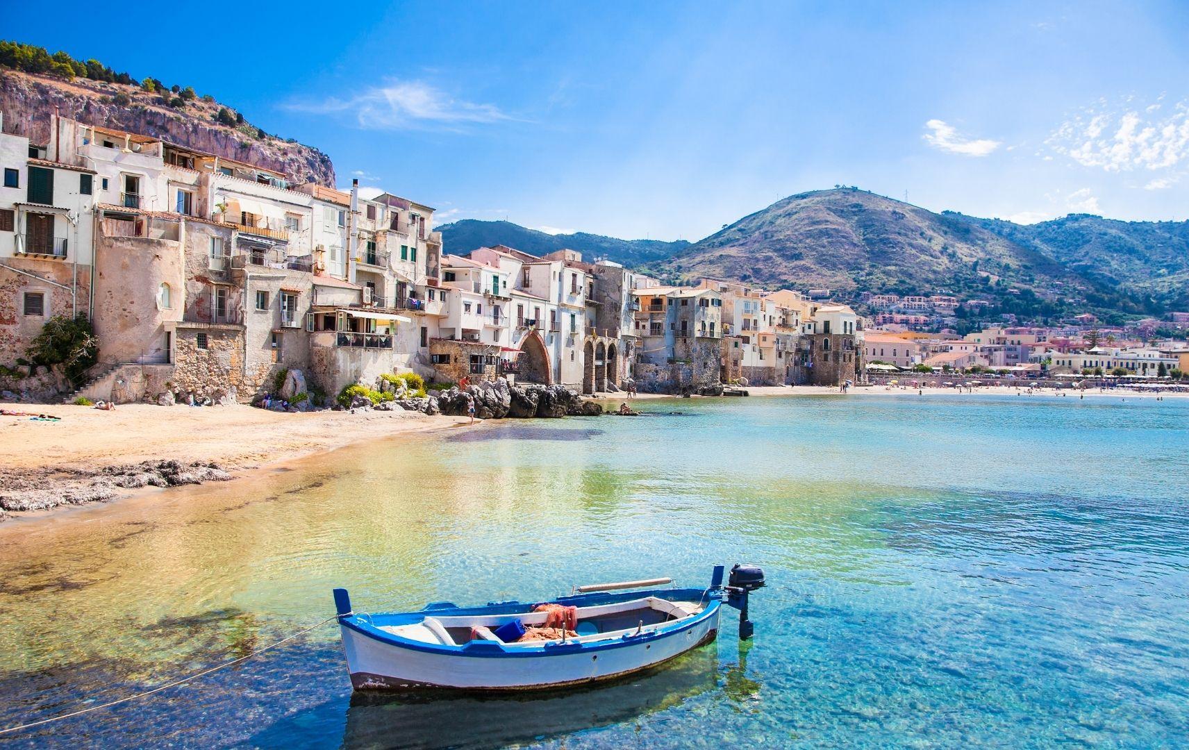 Sizilien Italien Küste Boot