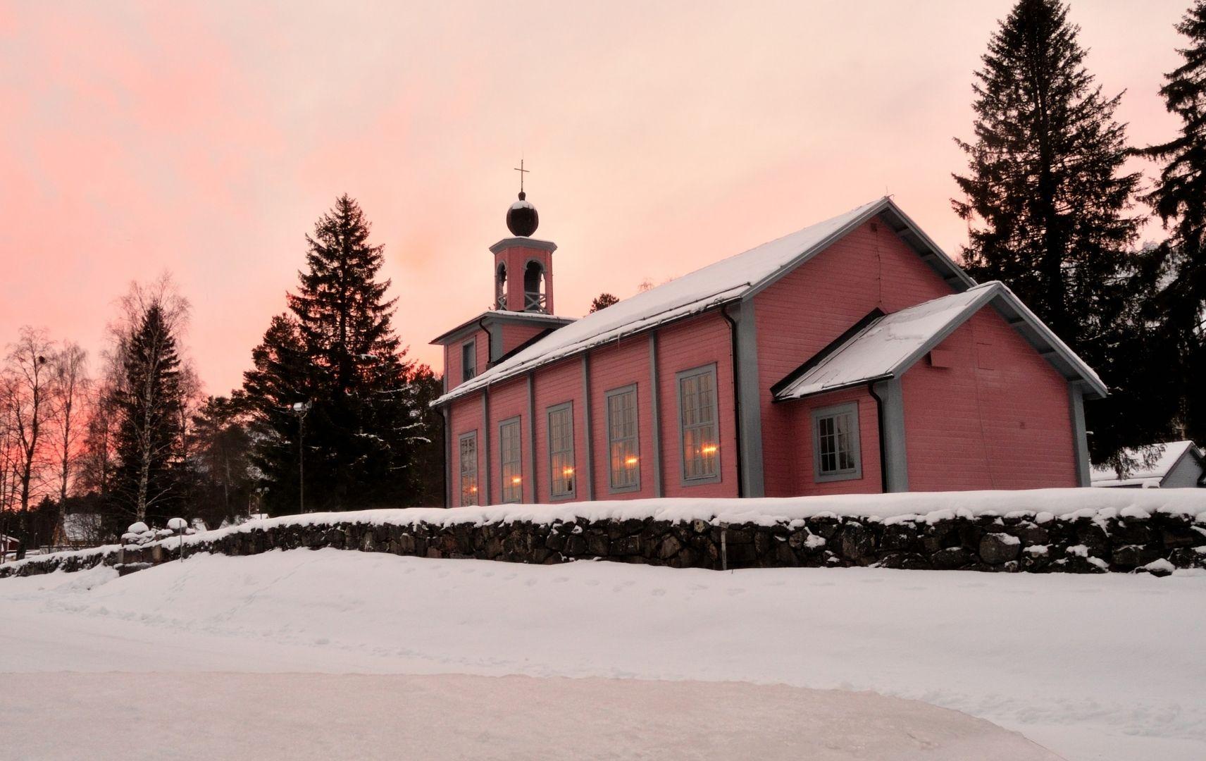 Schneelandschaft Schweden
