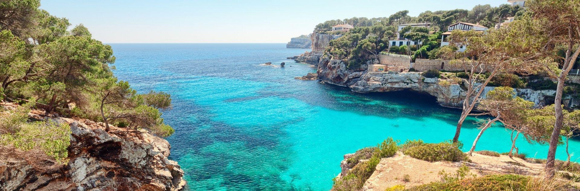 Meer in Mallorca im Mittelmeer Urlaub