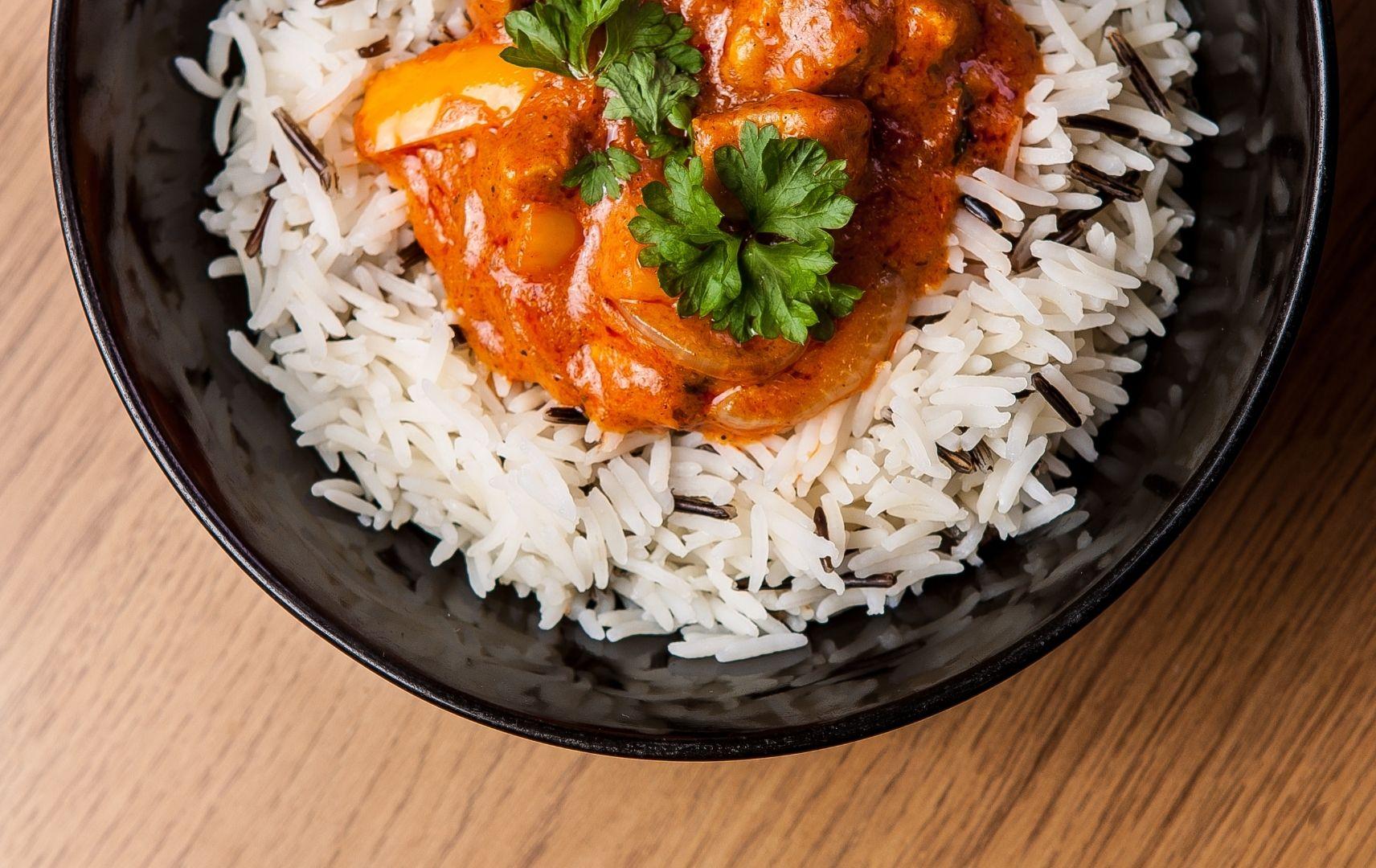 Hähnchen Curry mit Reis, Sri Lanka