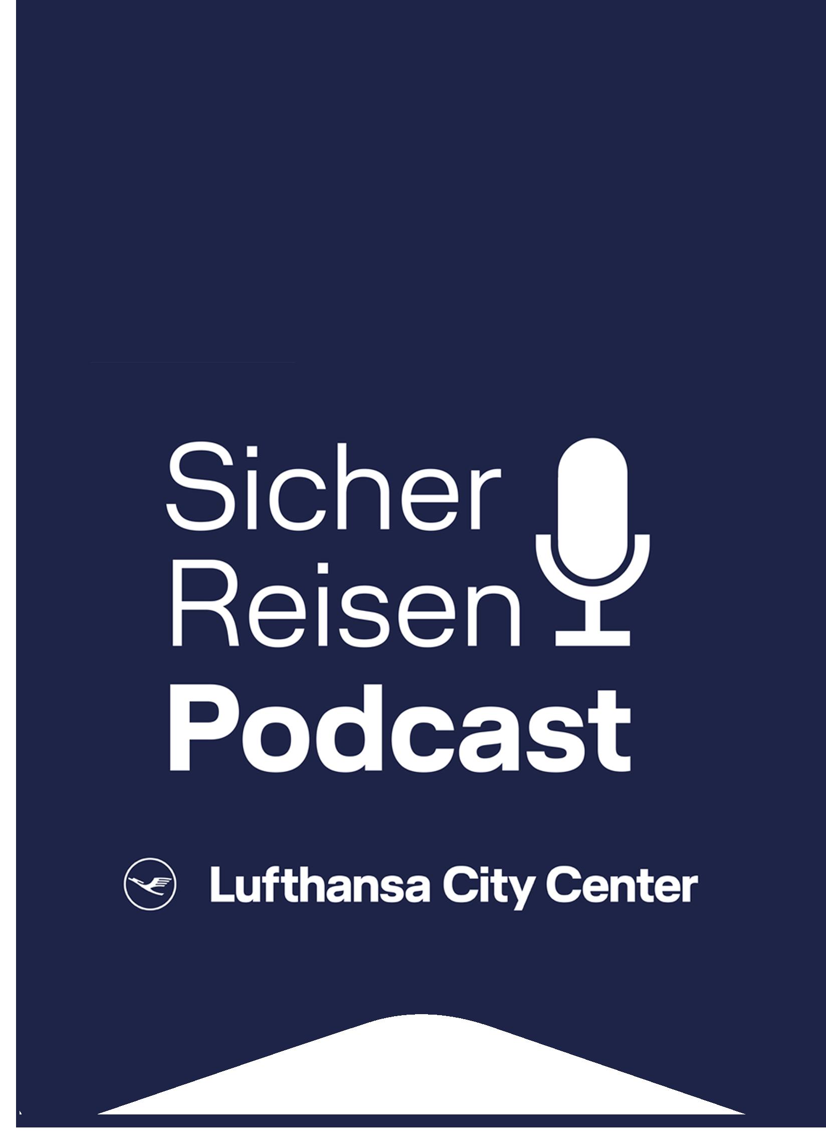 Sicher Reisen Podcast Fahne