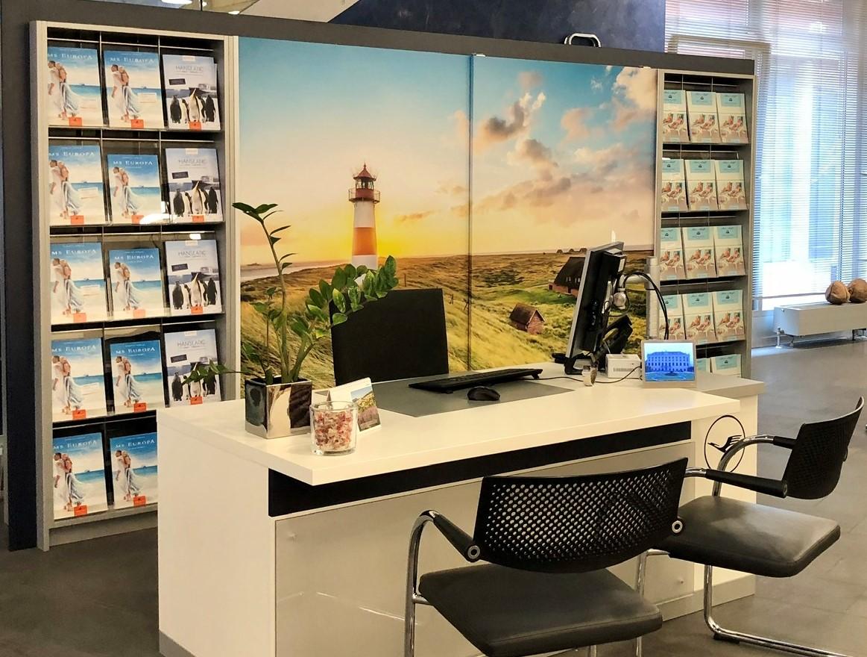 Lufthansa City Center Reisebüro Innenansicht 1