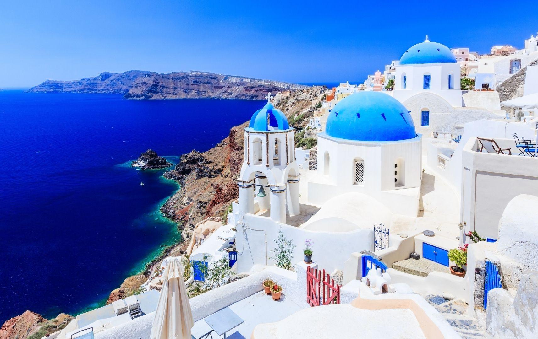 griechisches Dorf am Meer
