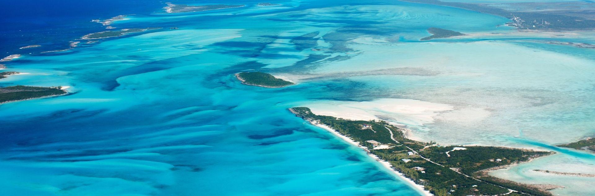 Bahamas Inseln von oben