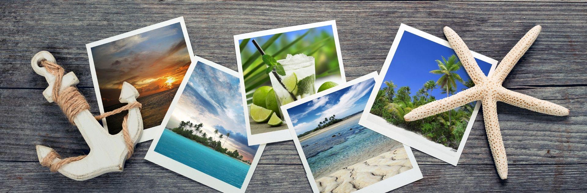 Anker Seestern Polaroid Bilder
