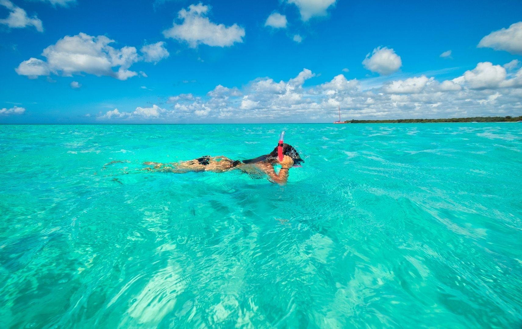 Schnorcheln in Karibik