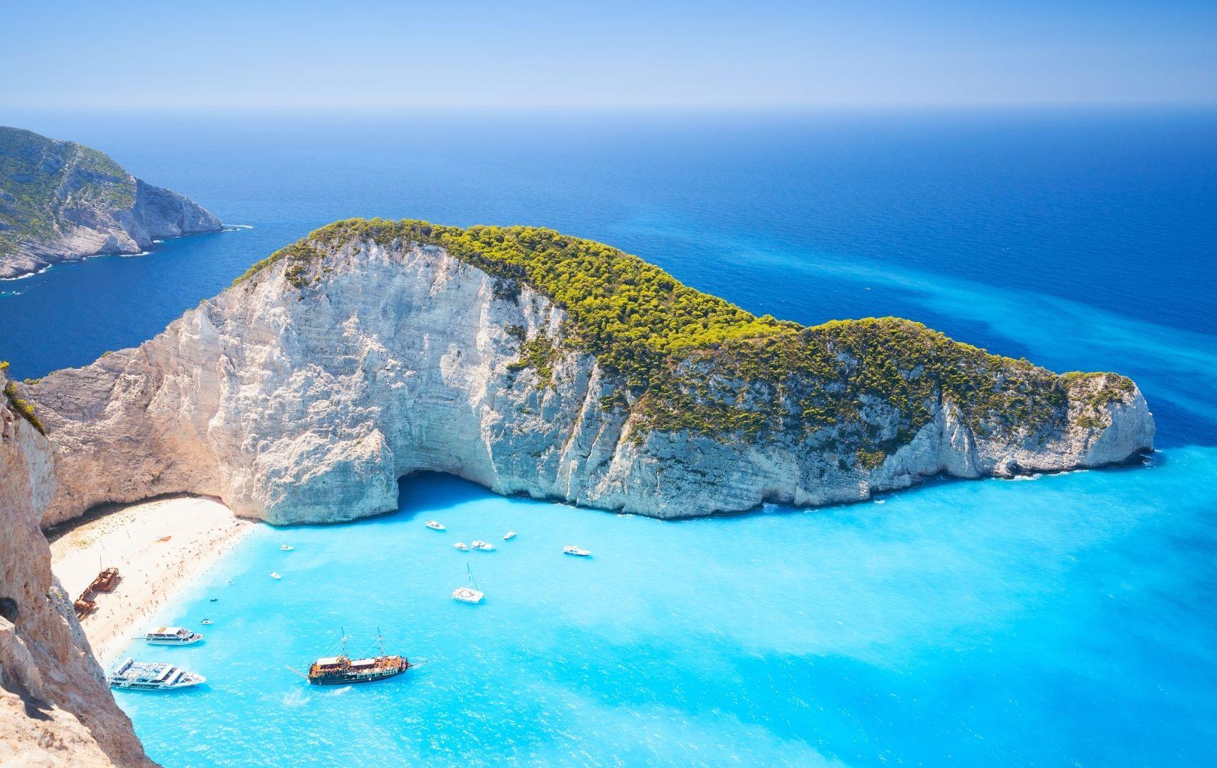 Griechische Inseln - Blaues Wasser