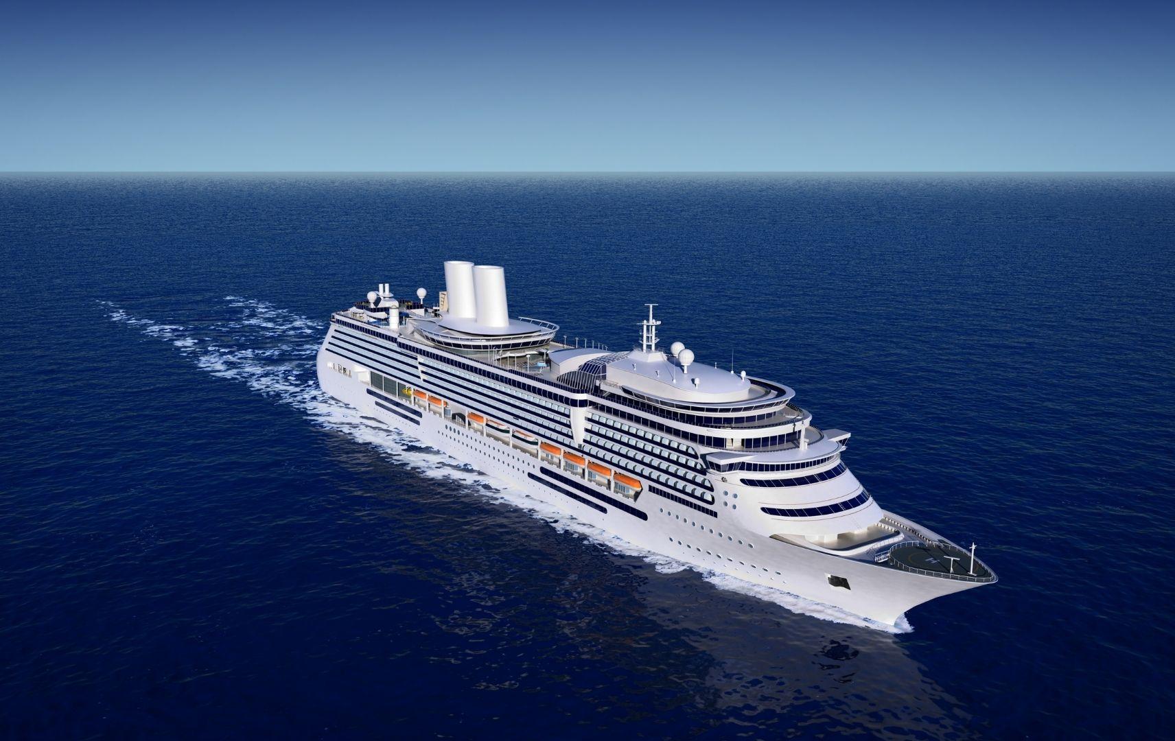 Kreuzfahrt - Kreuzfahrtschiff im Meer