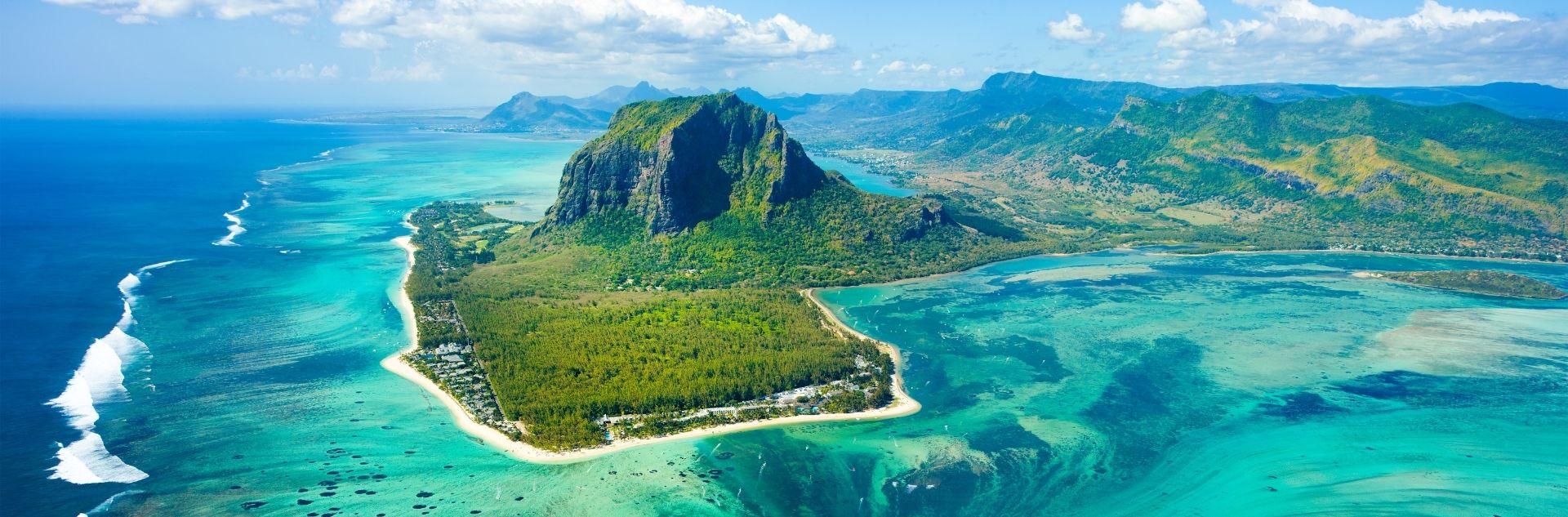 Mauritius Inselansicht von oben