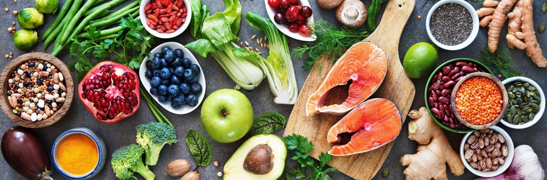 Mix von Lebensmitteln zum Kochen