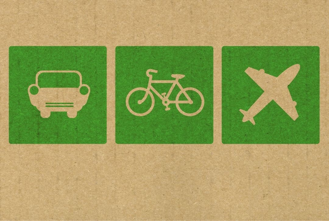 Tipps für nachhaltigere Geschäftsreisen Auto Fahrrad Flugzeug