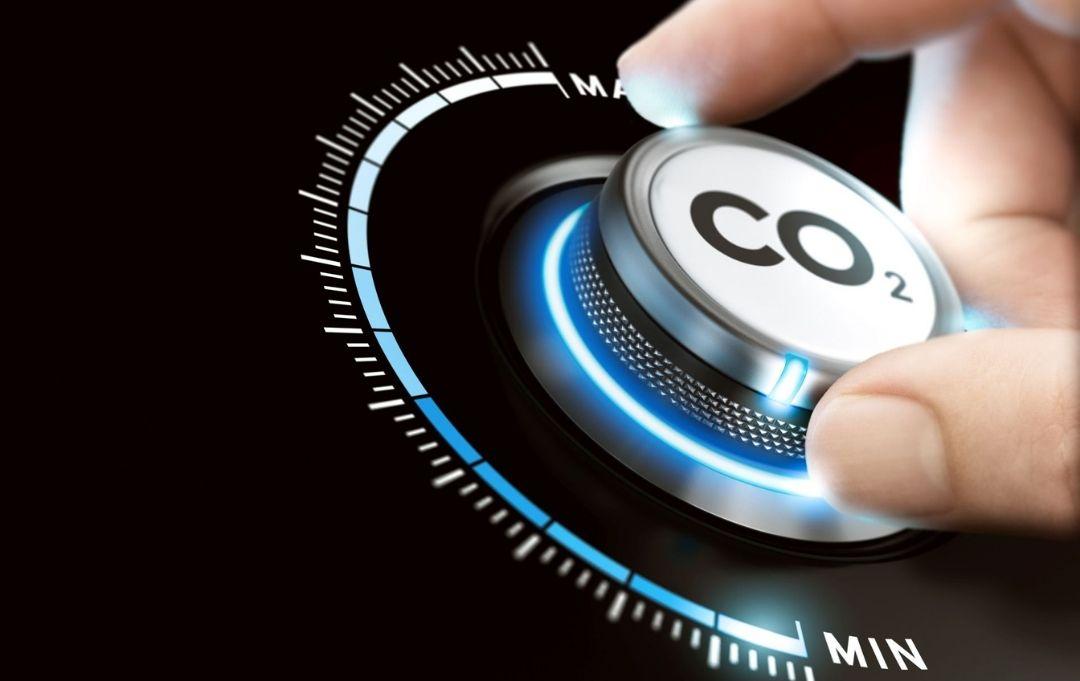 Nachhaltig Reisen Steuerrad für CO2