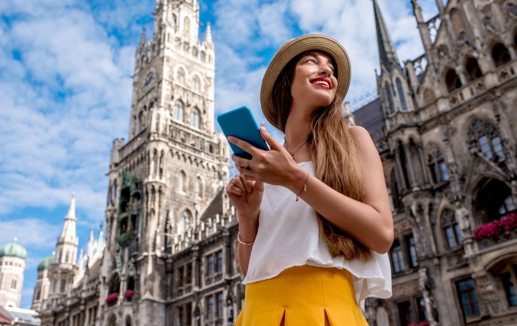 Frau in München