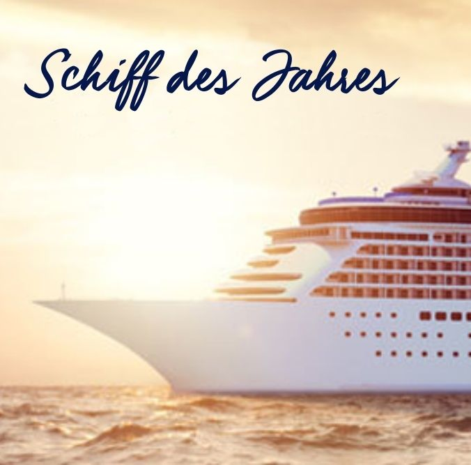 Großes weißes Schiff auf dem Meer