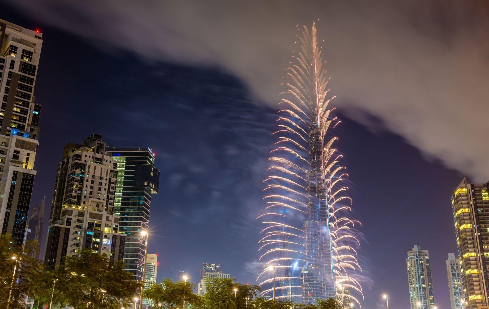 Silvesterurlaub - Dubai Feuerwerk
