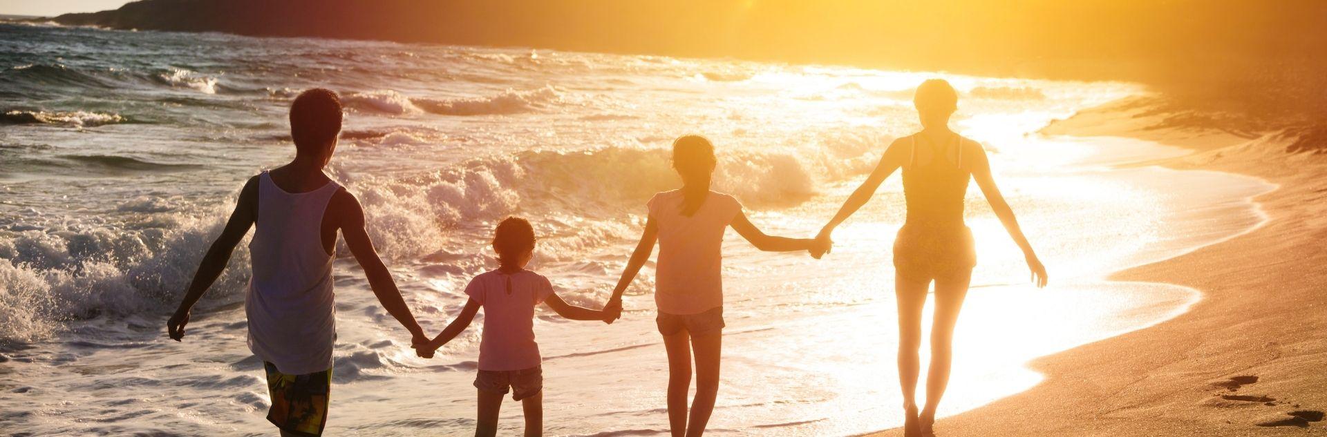 Strandspiel Hero - Sonnenuntergang Familie