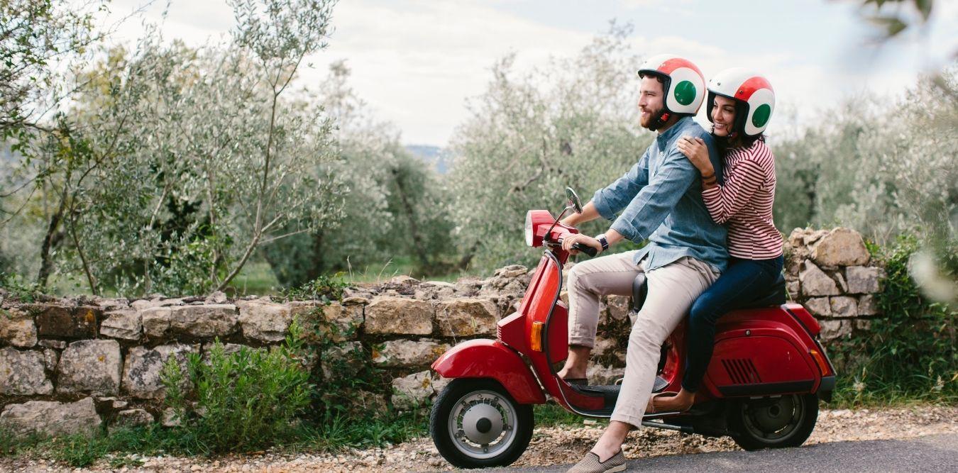 Europareise - Italien Vespa