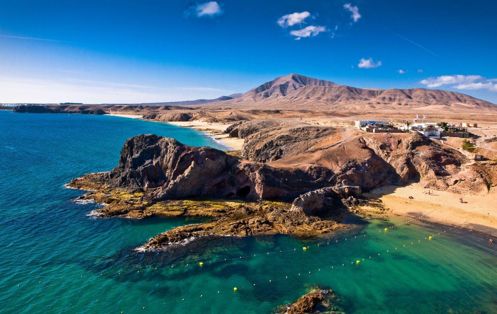 Kanarische Inseln - Lanzarote Landschaft und Meer