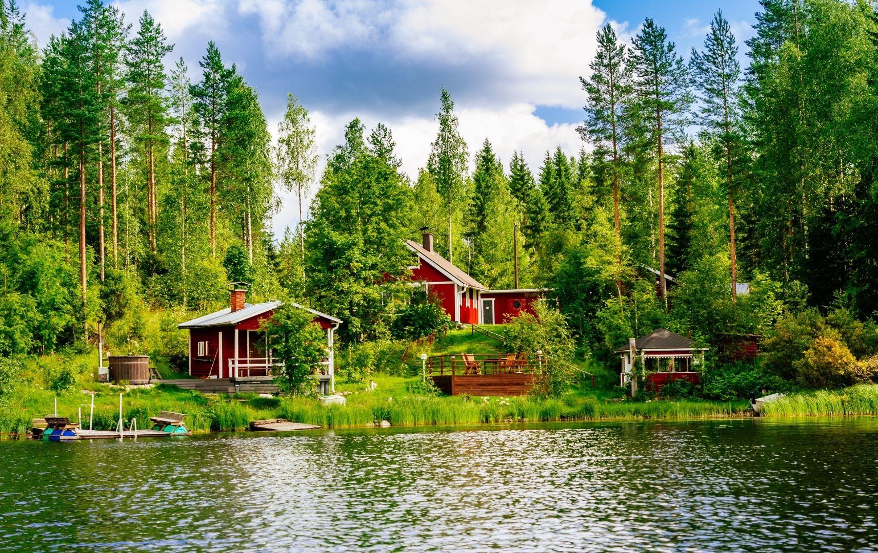 Valentinstag Reise - idyllisches Finnland