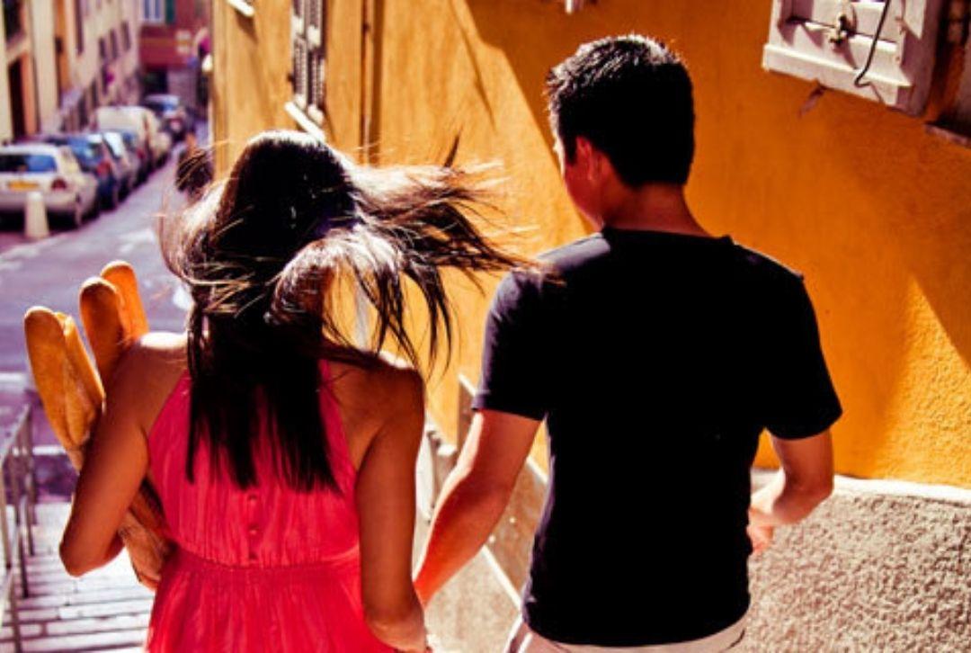 Verliebtes Paar in Nizza