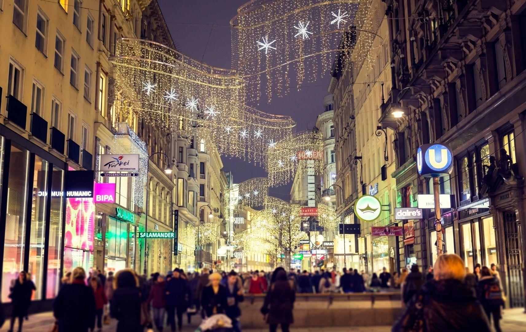 Weihnachtsshopping - Wien Abend