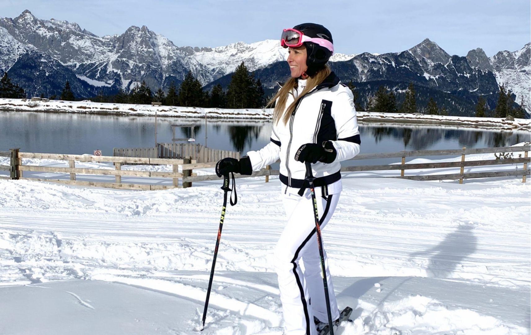 Katja Wunderlich auf der Skipiste