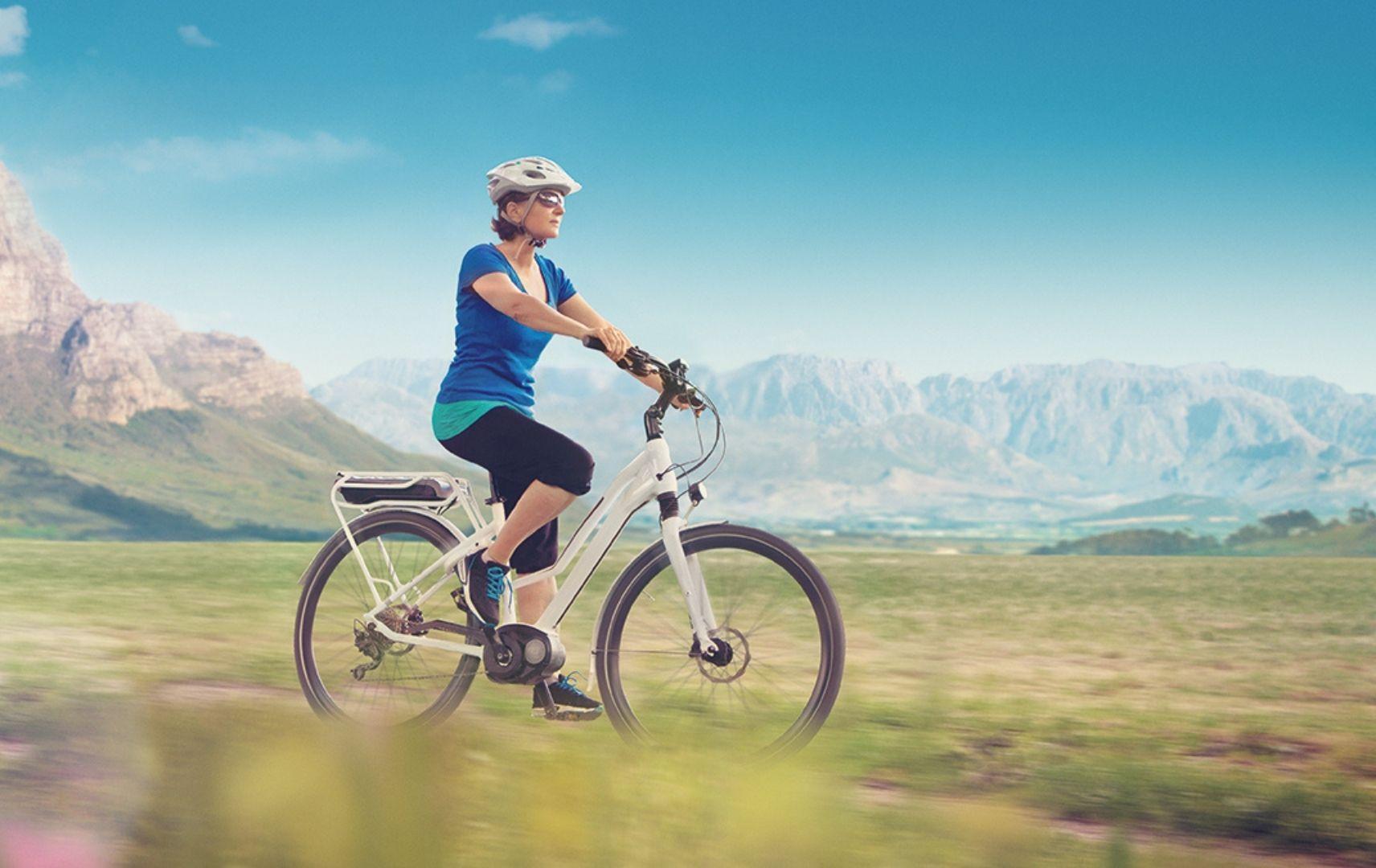 Belvelo, Frau auf Fahrrad