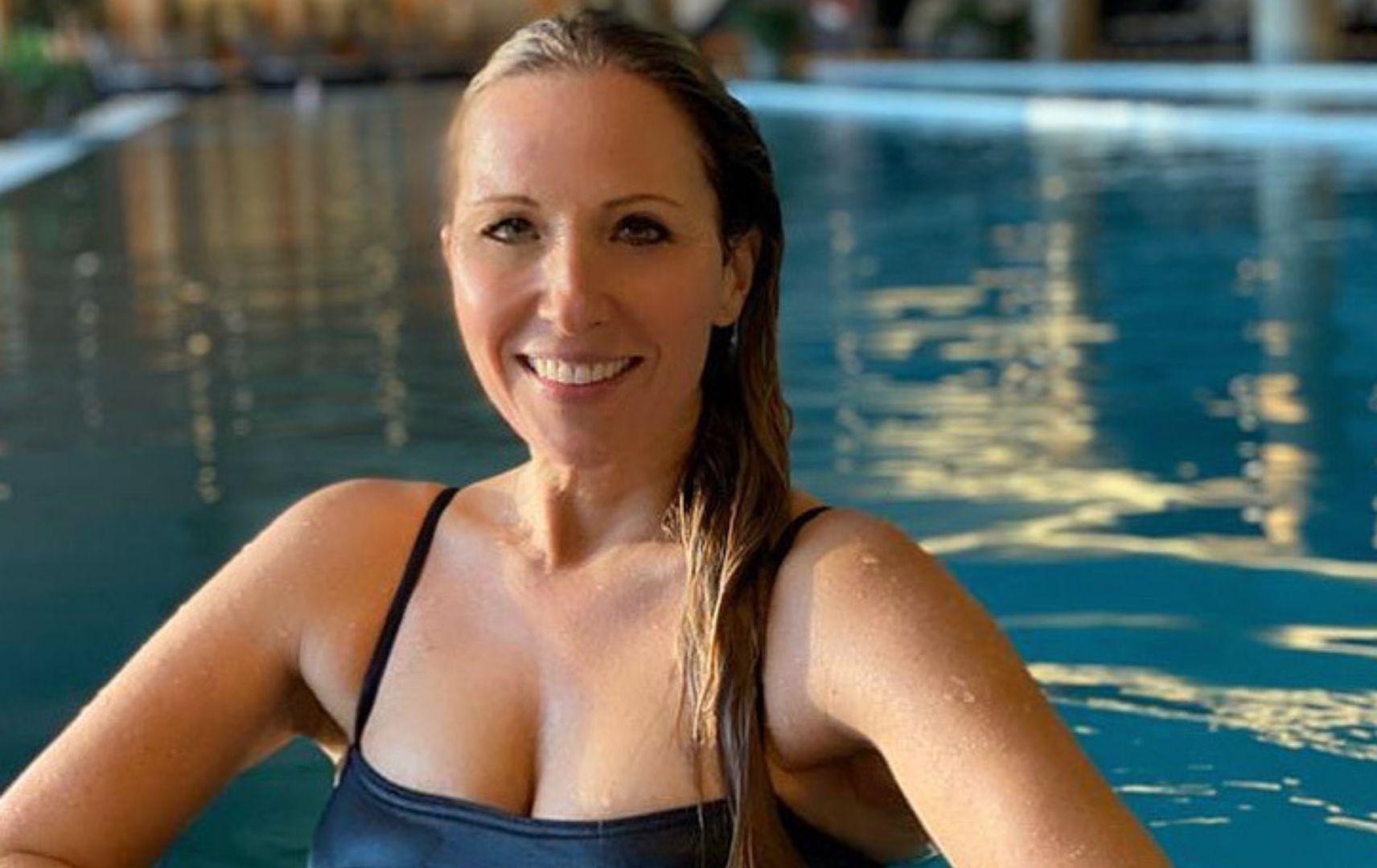 Katja Wunderlich im Pool