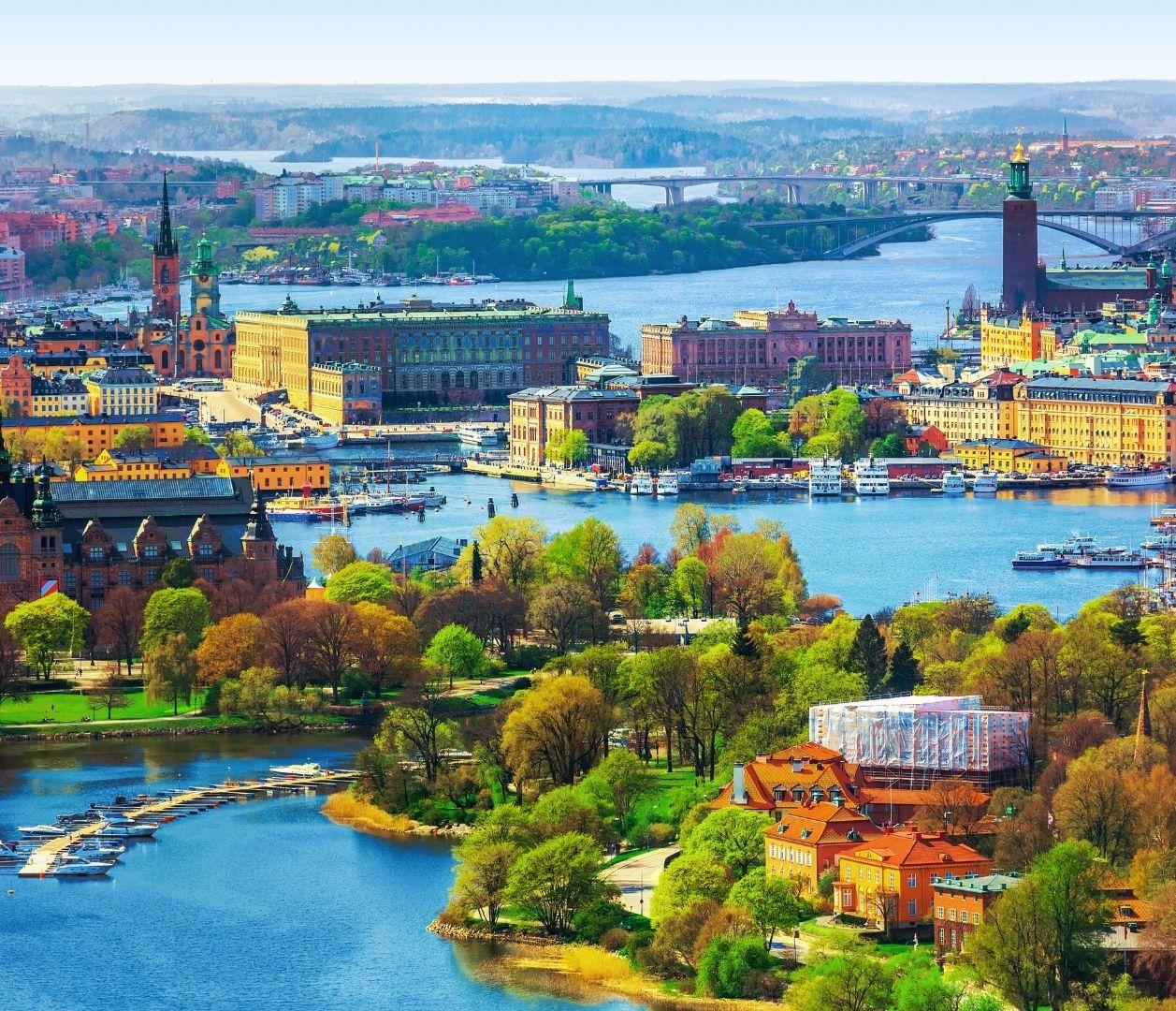 Stockholm mit Wasser