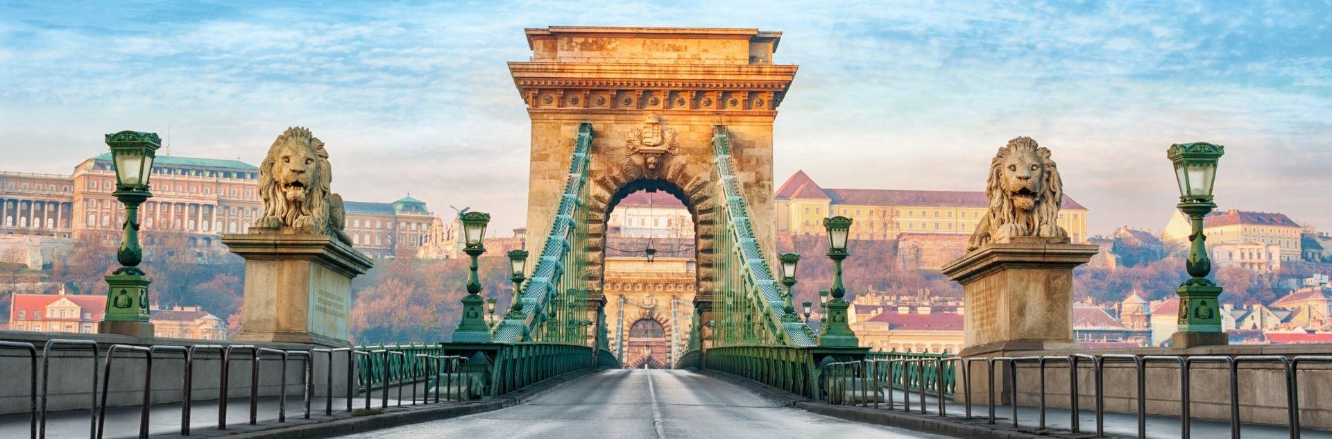 Budapest leere Brücke