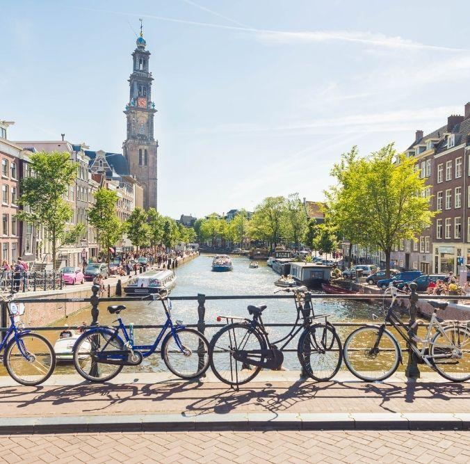 Amsterdam Brücke Fluss