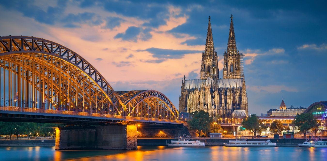 Köln Rheinbrücke und Dom