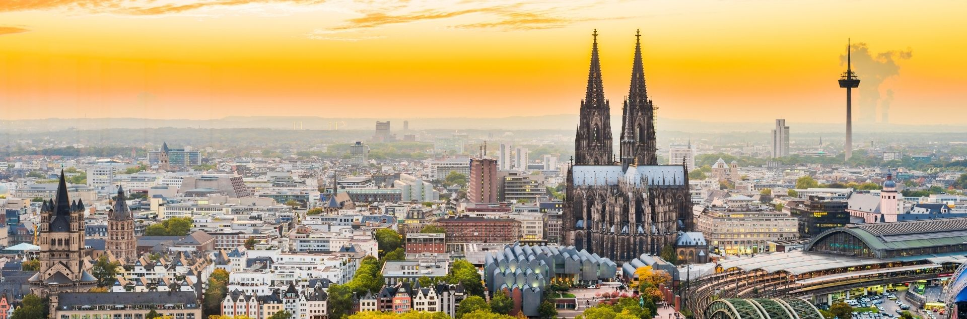 Über den Dächern der Stadt Köln