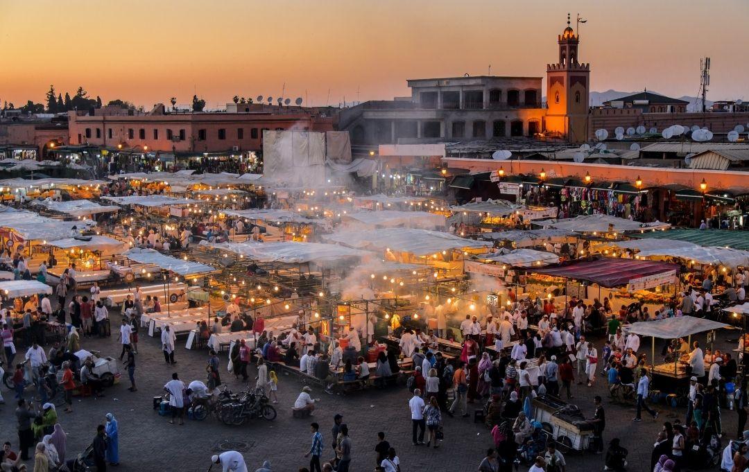 Marrakesch Platz djemaa el fna
