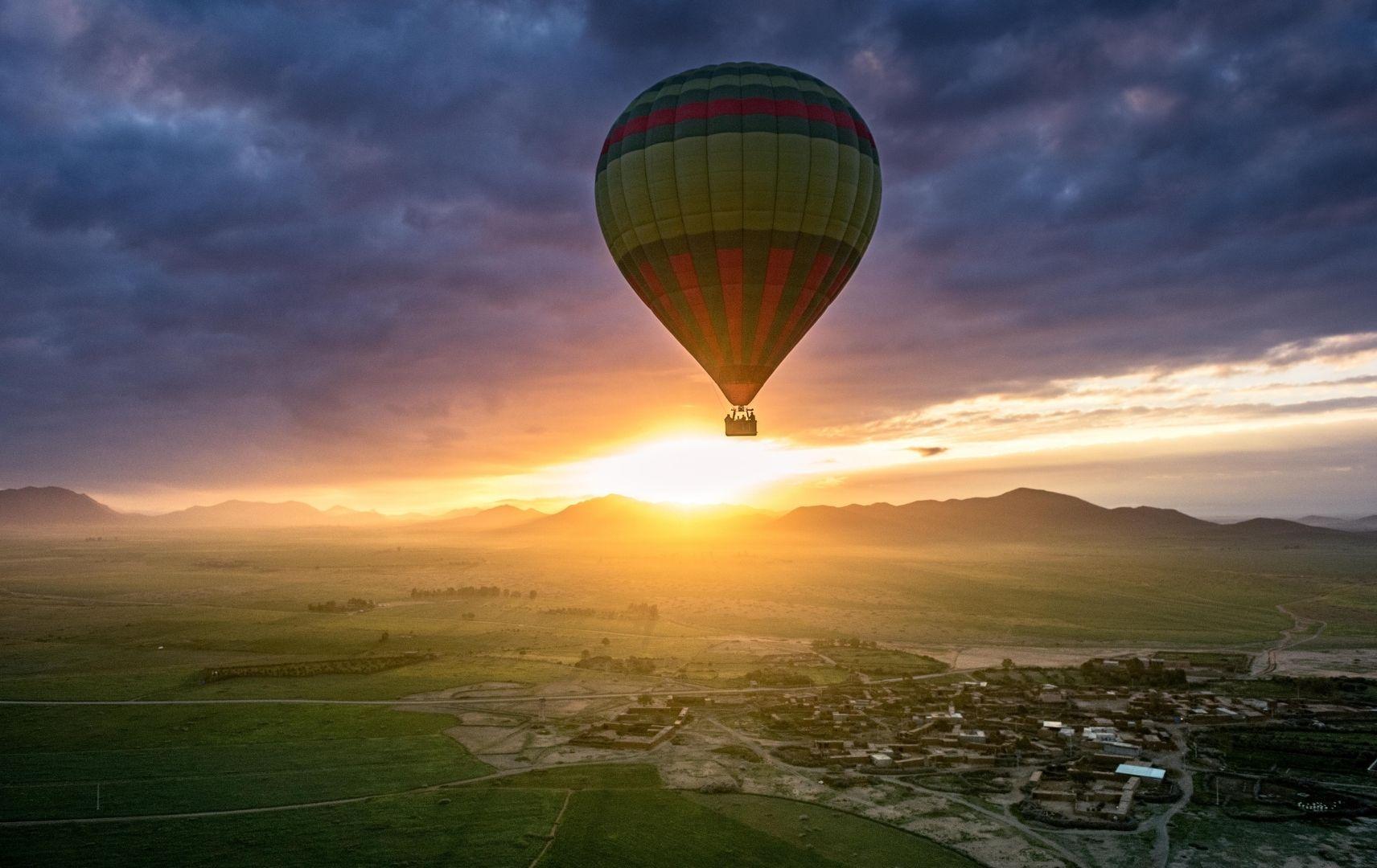 Marrakesch Fahrt mit dem Heißluftballon