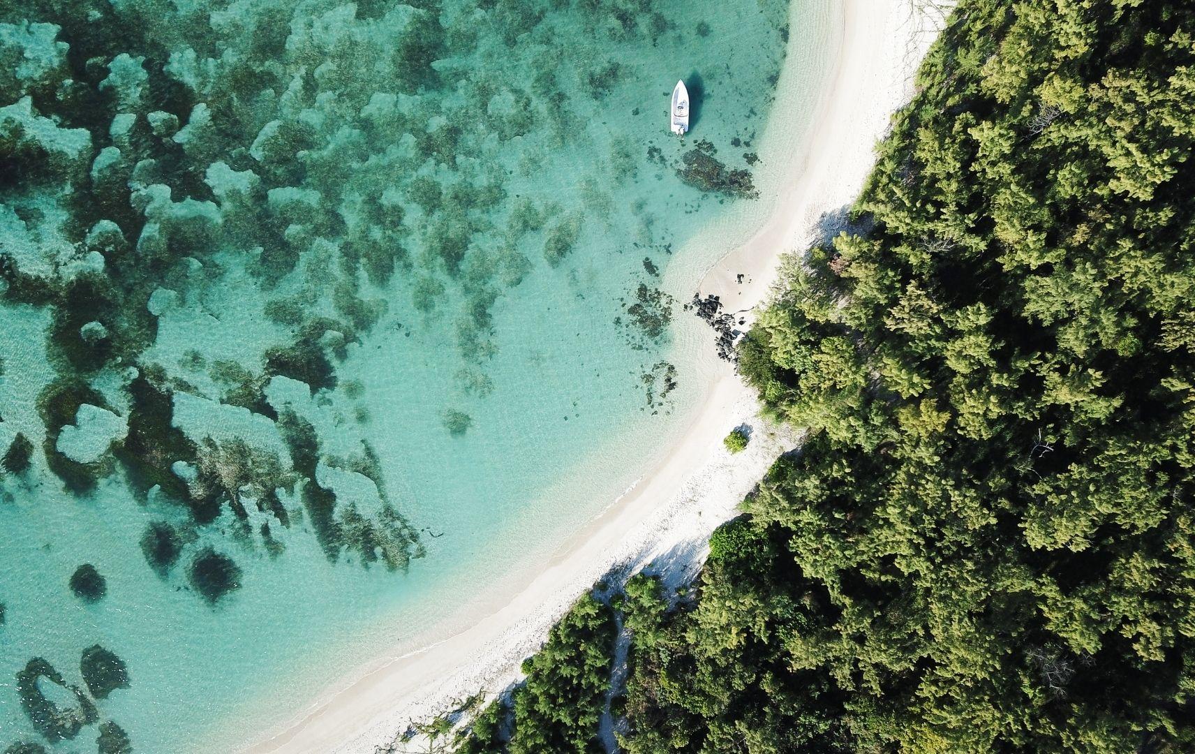 Mauritius Strand von oben