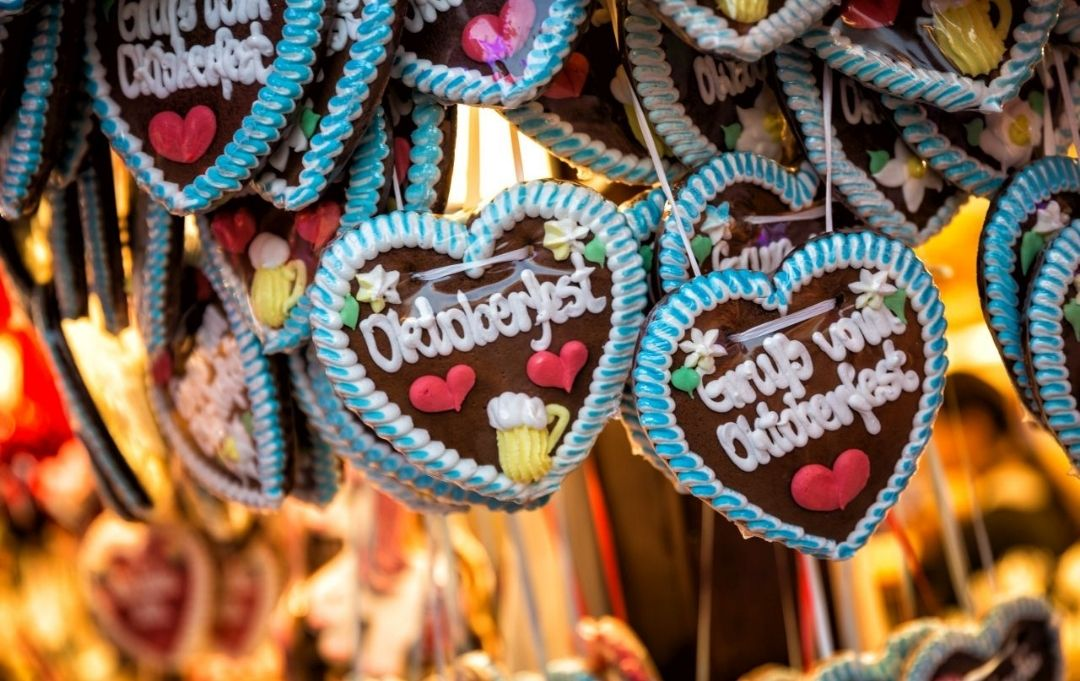 München Oktoberfest Lebkuchenherzen