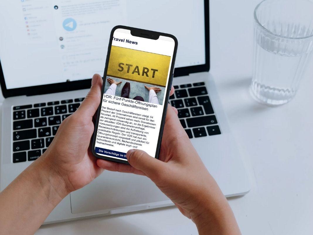 Newsletter-Beispiel-Öffnungskonzept Geschäftsreisen, Change Management, Reisesicherheit, Upgrade Special
